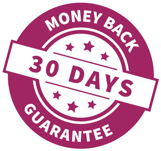 Stamp: 30 days money back guarantee