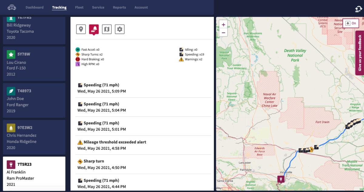 Veturilo Fleet Tracking — Driving Events